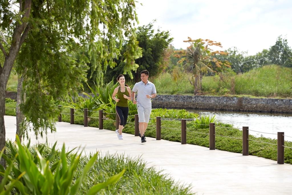 khuôn viên xanh dự án phú hải riverside