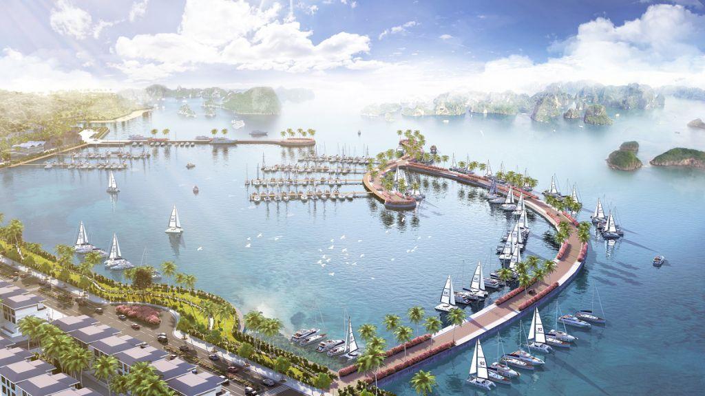bến thuyền dự án green dragon city cẩm phả