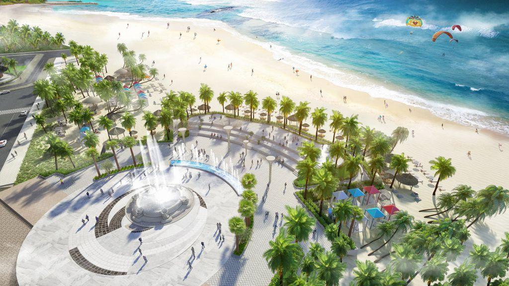 quảng trường dự án green dragon city cẩm phả