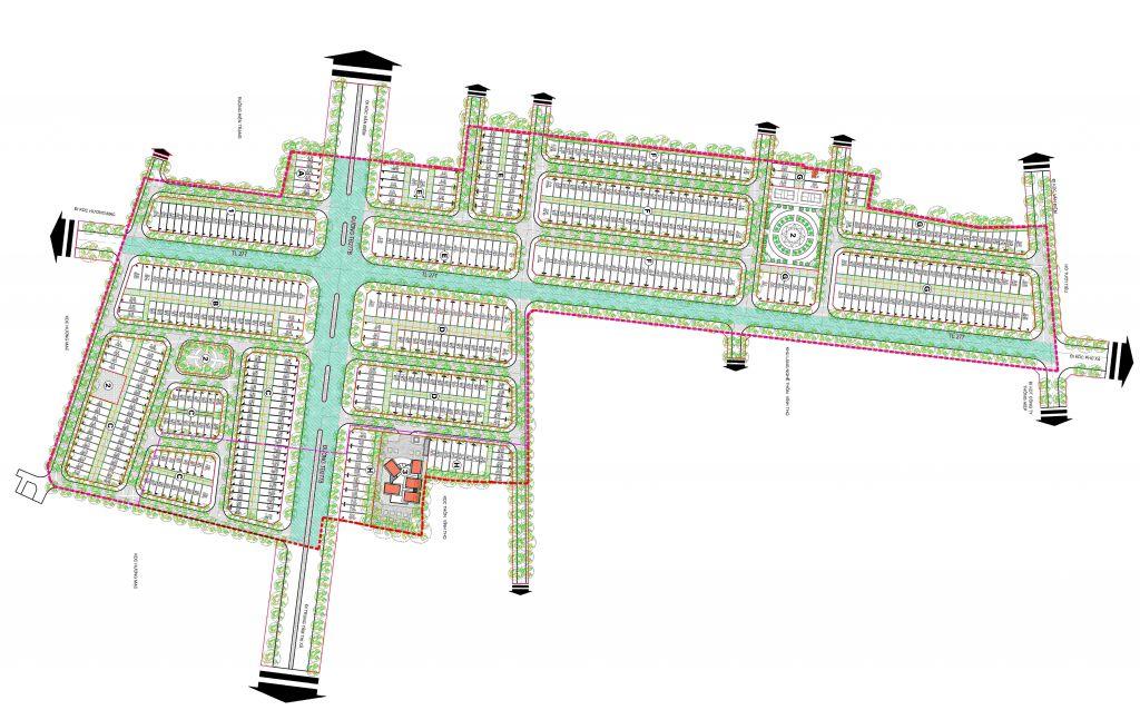 mặt bằng dự án highway city bắc ninh