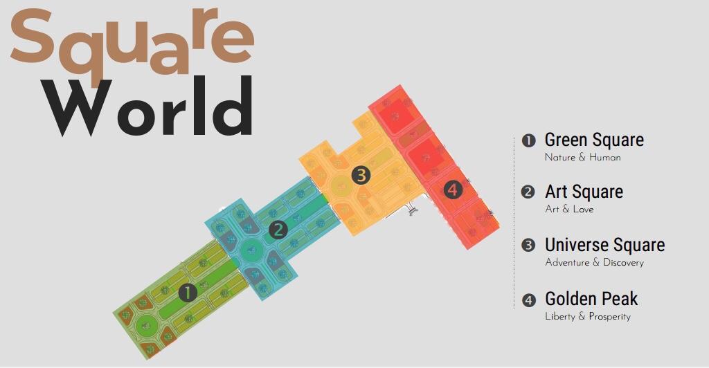 phân khu flc square world bắc giang