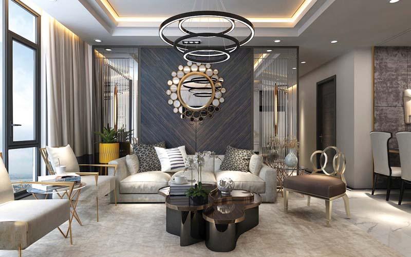 phòng khách chung cư sunshine global city