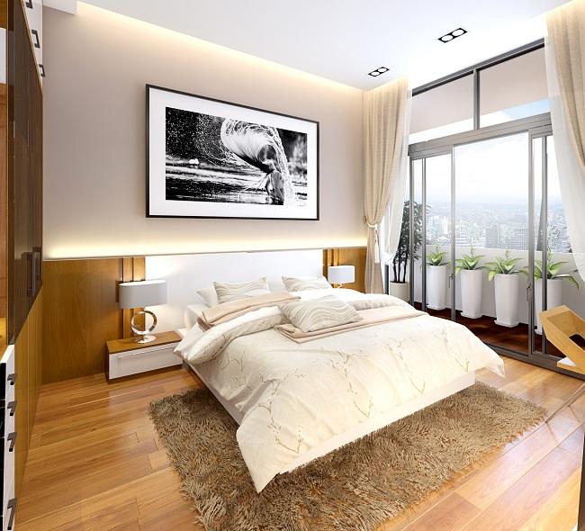 phòng ngủ chung cư the victoria an hưng