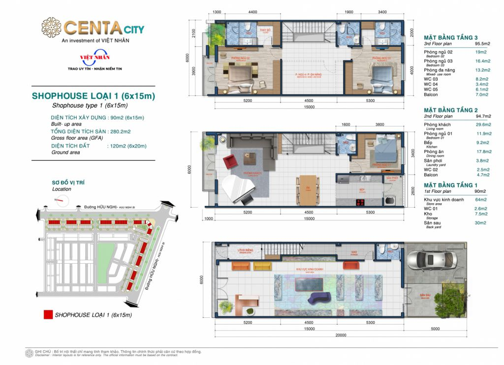 shophouse centa city loại 1