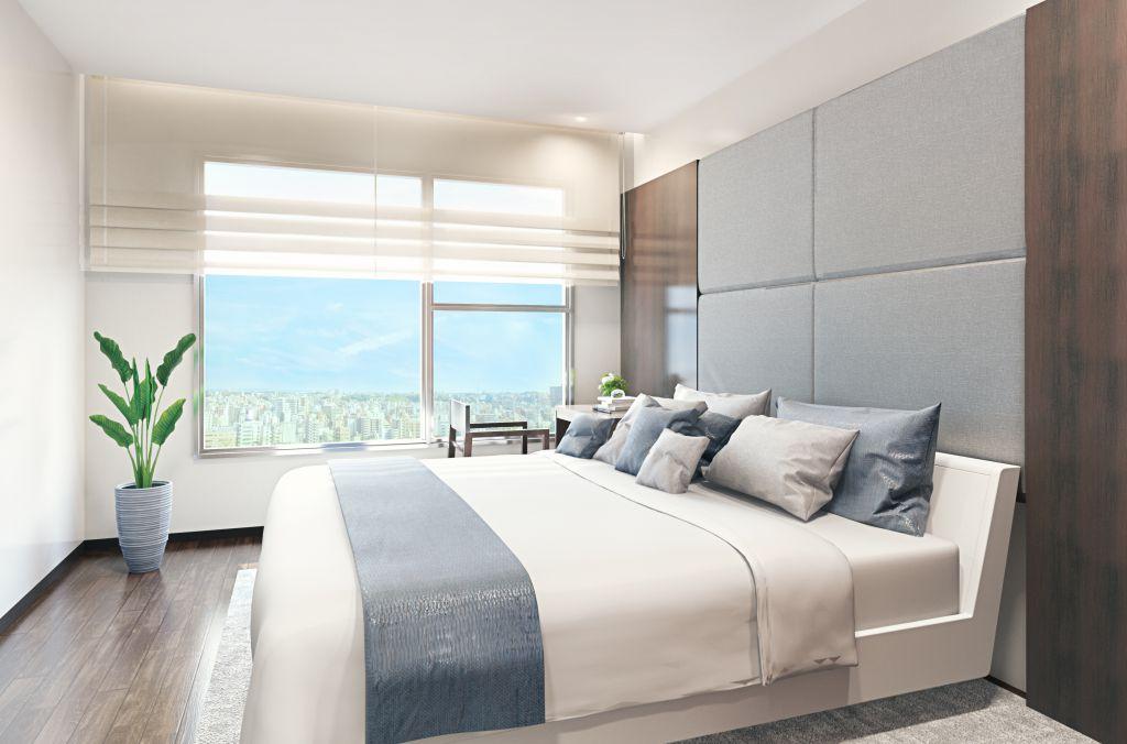 phòng ngủ căn hộ c the legacy