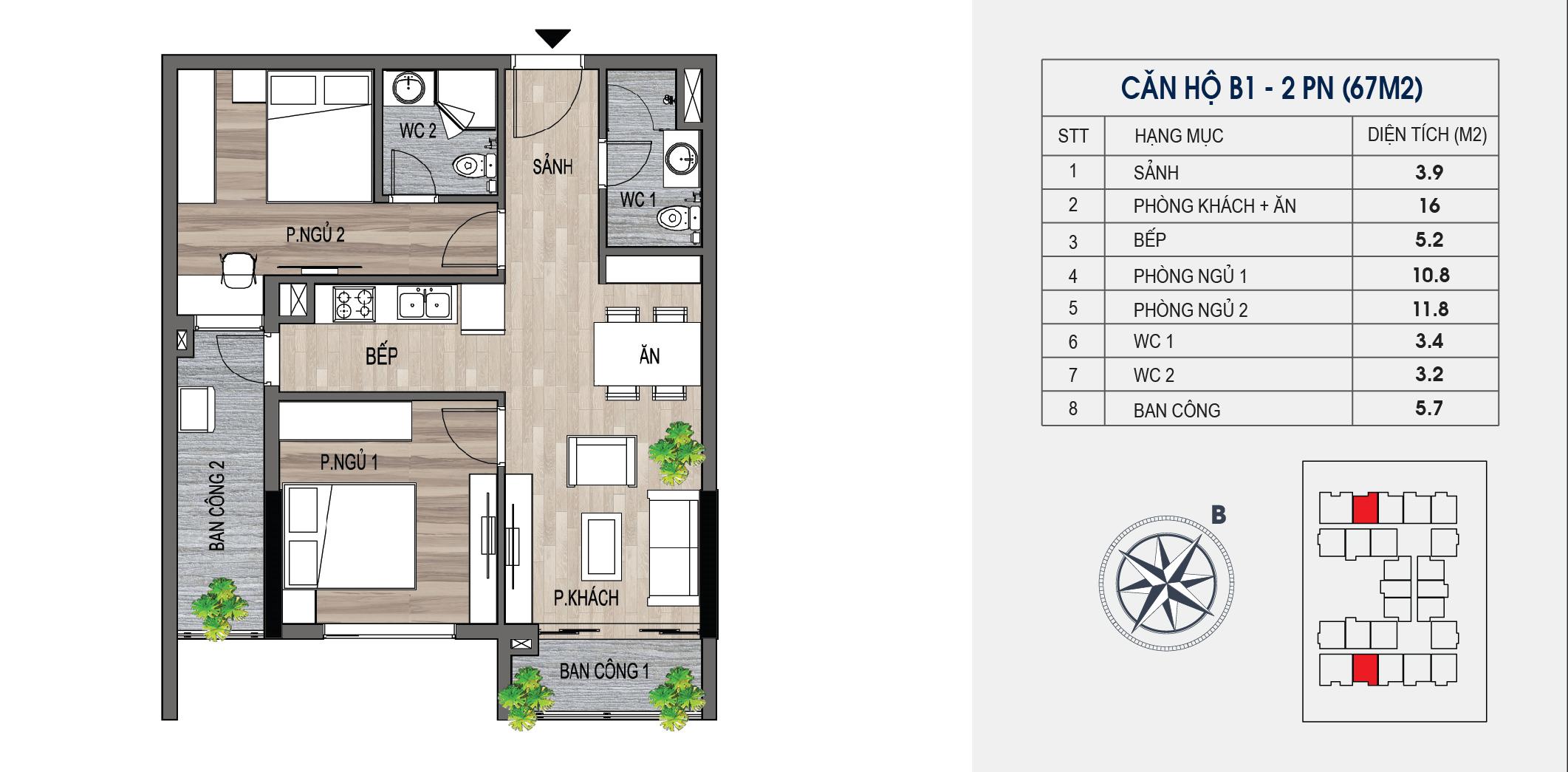 thiết kế chung cư lotus central căn hộ b1