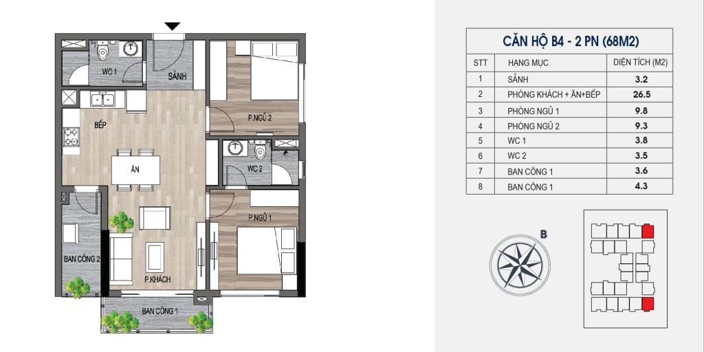 thiết kế chung cư lotus central căn hộ b4