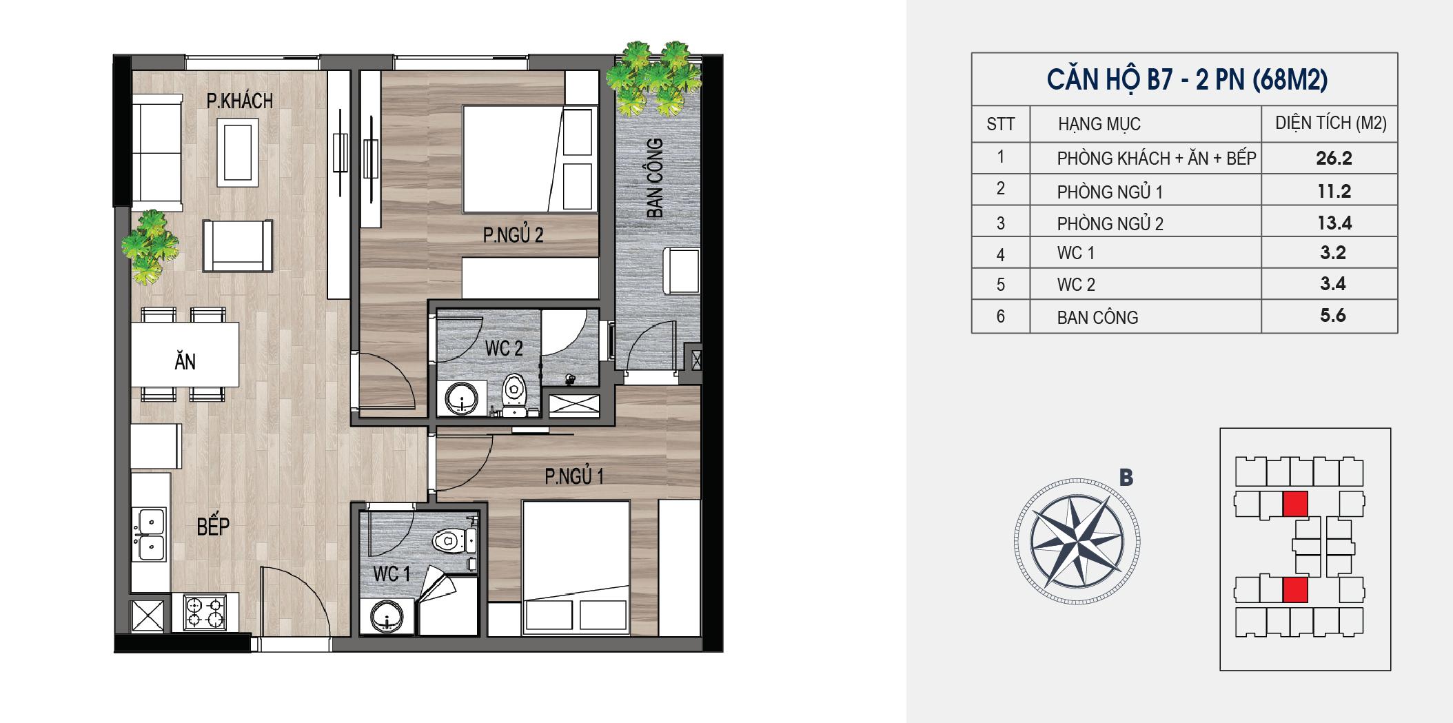 thiết kế chung cư lotus central căn hộ b7