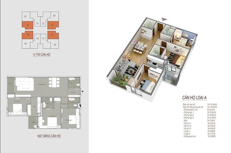 thiết kế chung cư the legacy căn hộ a