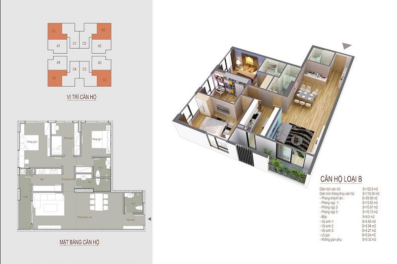 thiết kế chung cư the legacy căn hộ b