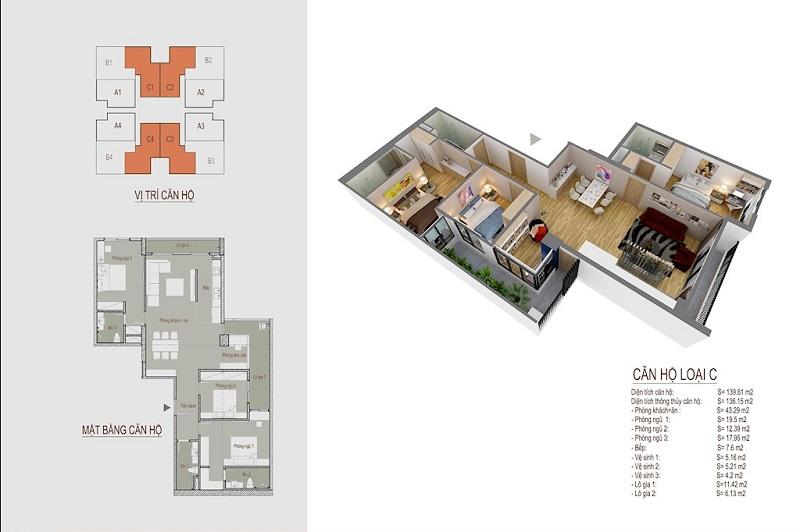 thiết kế chung cư the legacy căn hộ c