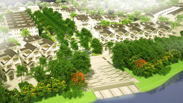 trục cảnh quan trung tâm bách việt lake garden