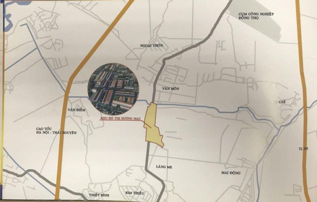 vị trí dự án highway city bắc ninh