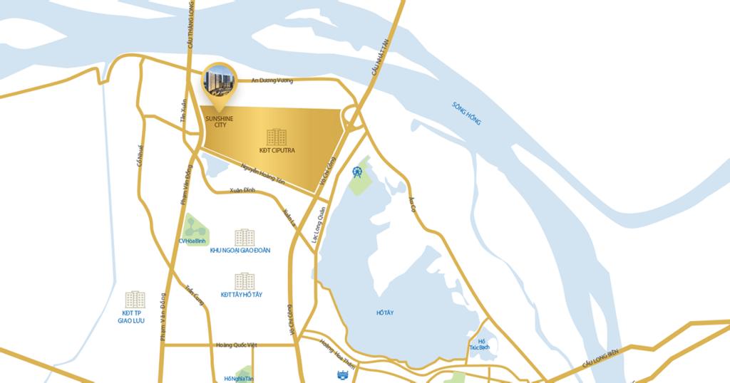 vị trí chung cư sunshine global city