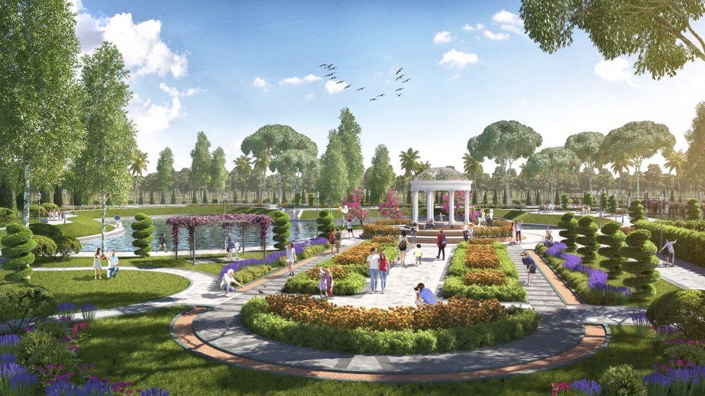 vườn dạo bộ danko city thái nguyên