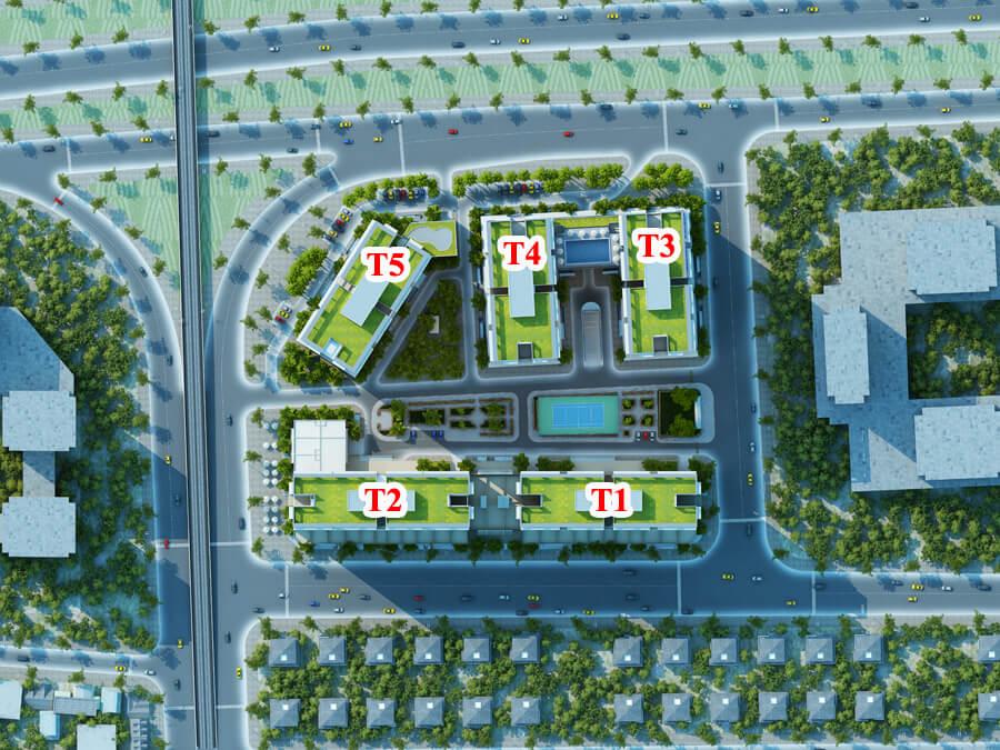 mặt bằng tổng thể dự án chung cư thăng long capital