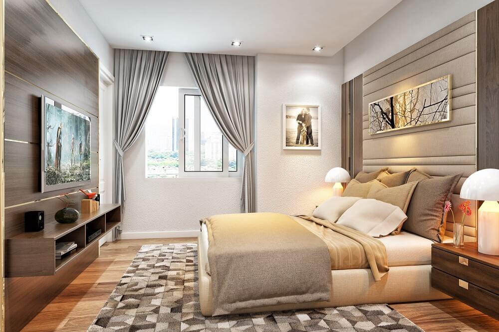 phòng ngủ chung cư golden park tower