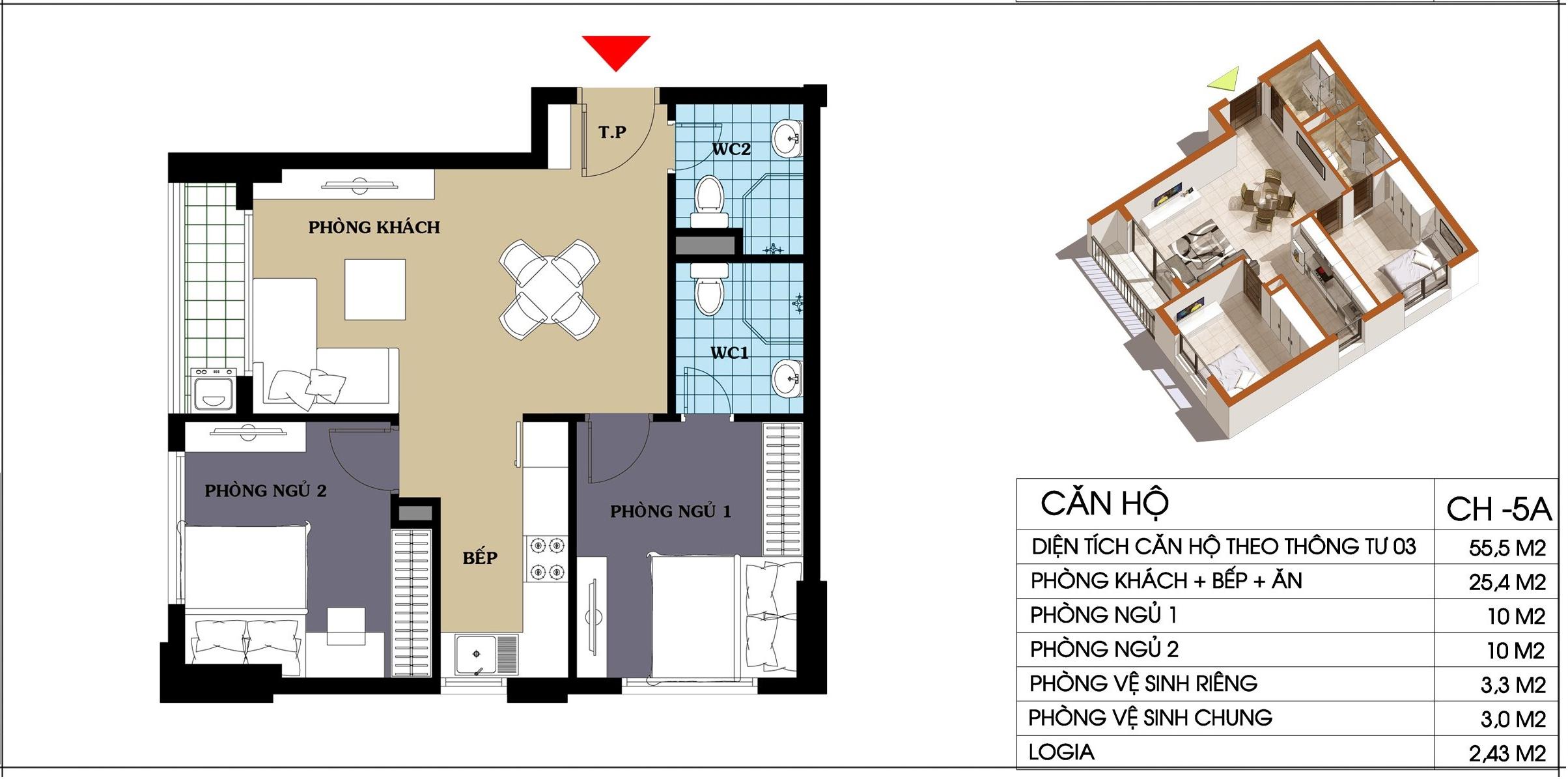 căn hộ 5a chung cư @home