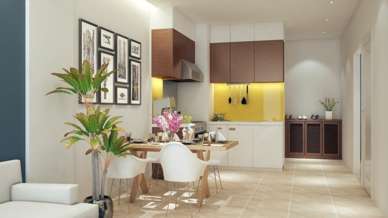 phòng bếp chung cư c22 bộ công an