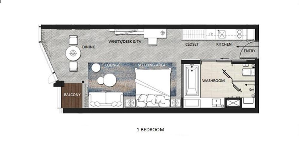 thiết kế căn hộ 1 ngủ a la carte hạ long