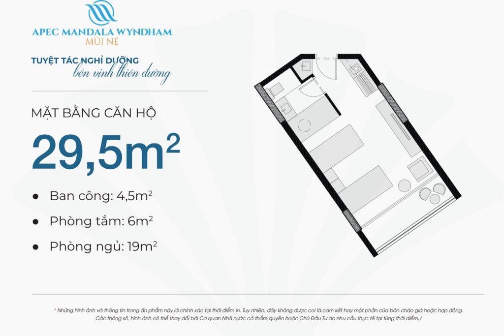 thiết kế căn hộ apec mandala wyndham căn hộ 29.5m2