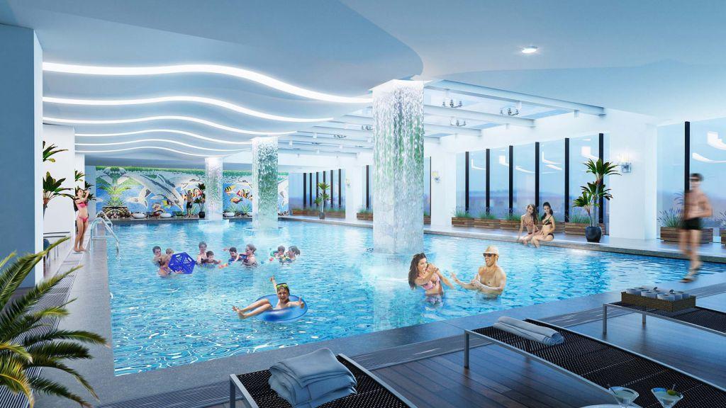 bể bơi chung cư qms top tower