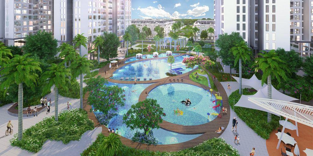 bể bơi vincity dreamland gia lâm