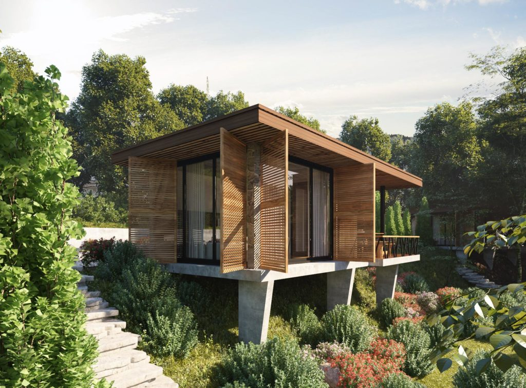 phối cảnh bungalow long thành hòa bình luxury resort