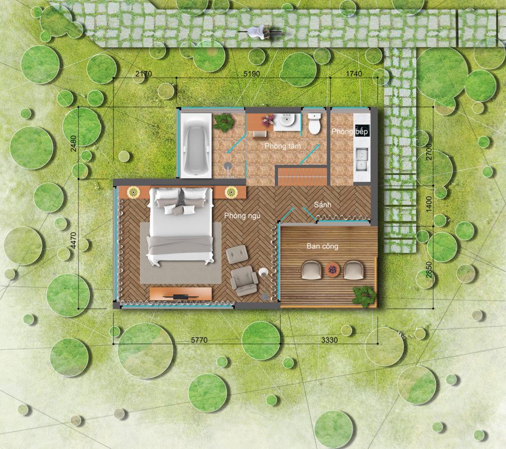 bungalow long thành hòa bình luxury resort
