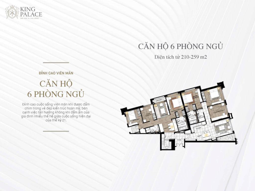 căn hộ 6 phòng ngủ chung cư king palace