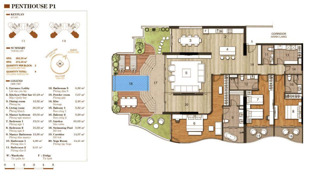 thiết kế aparthotel crystal marina bay penthouse 1