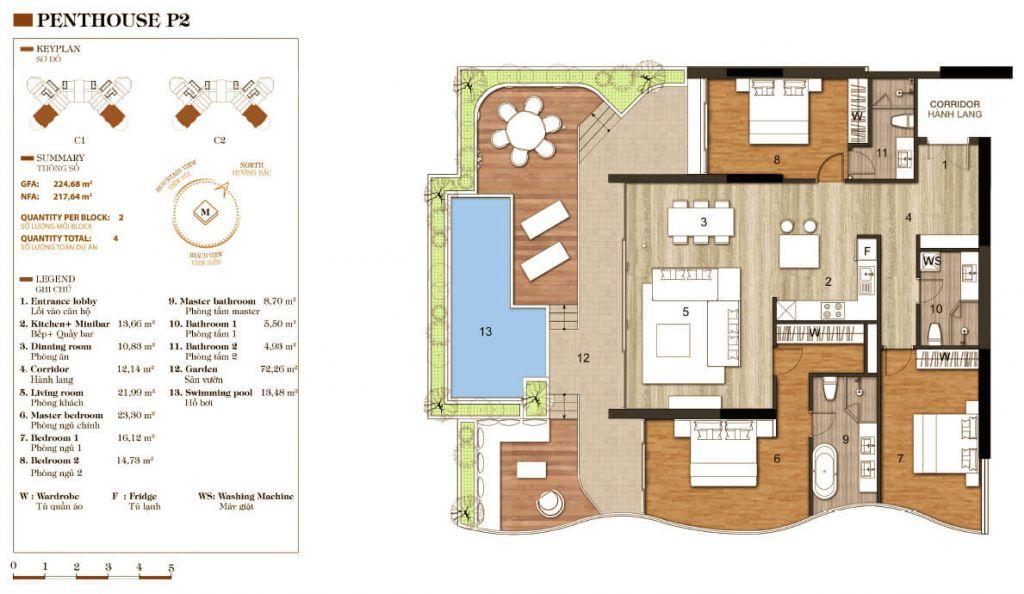 thiết kế aparthotel crystal marina bay penthouse 2