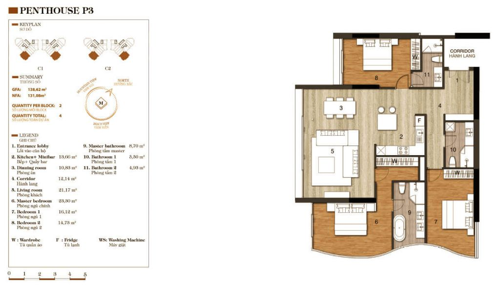 thiết kế aparthotel crystal marina bay penthouse 3