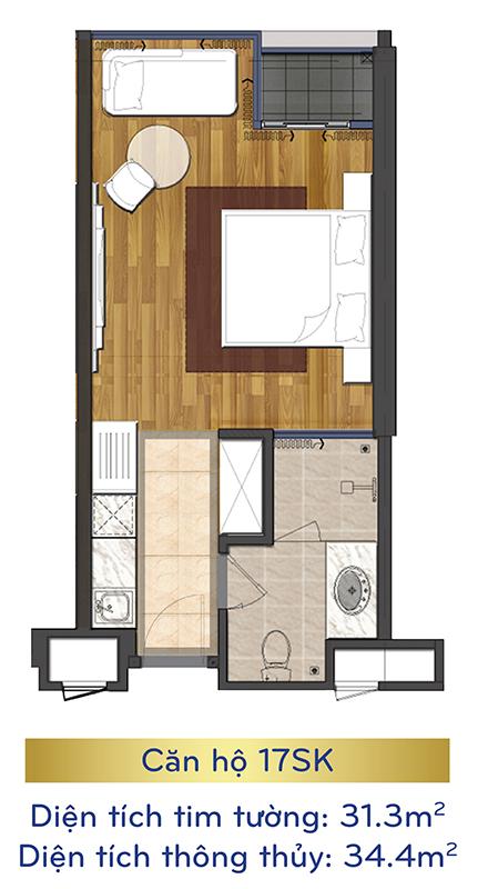 thiết kế căn hộ condotel eastin phát linh