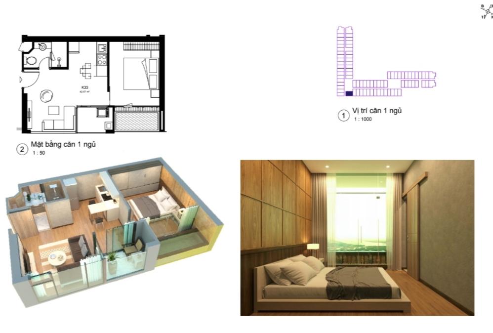 thiết kế căn hộ condotel wyndham lynn times thanh thủy căn hộ 1 ngủ