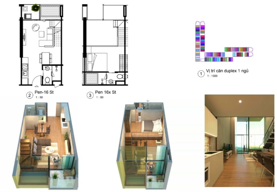 thiết kế condotel wyndham lynn times căn hộ duplex