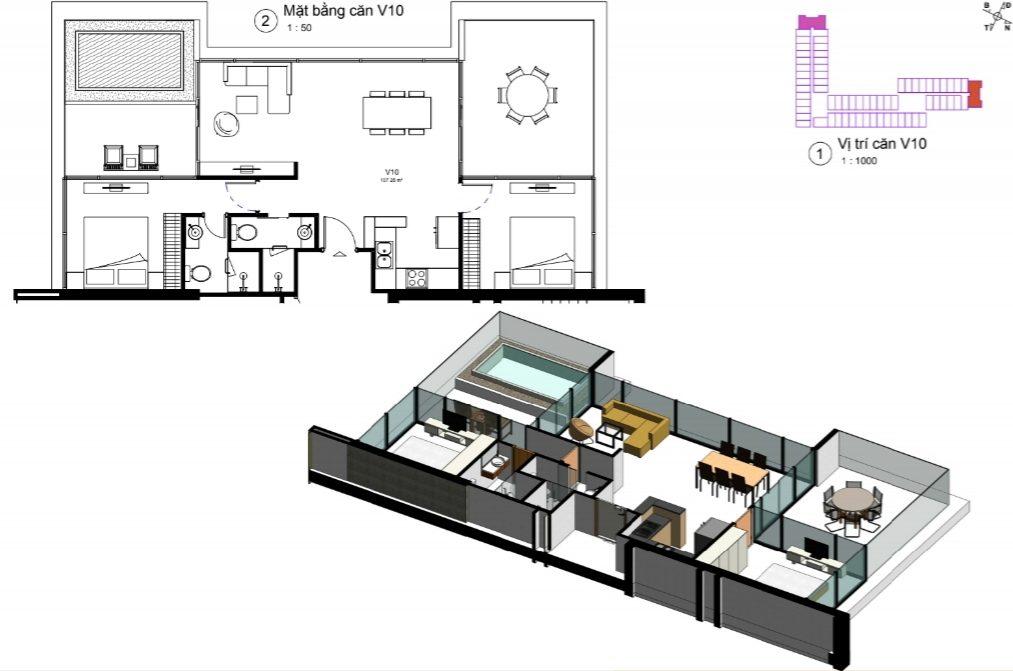 thiết kế căn hộ condotel wyndham lynn times thanh thủy