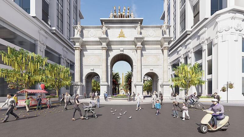 cổng chính dự án paris elysor