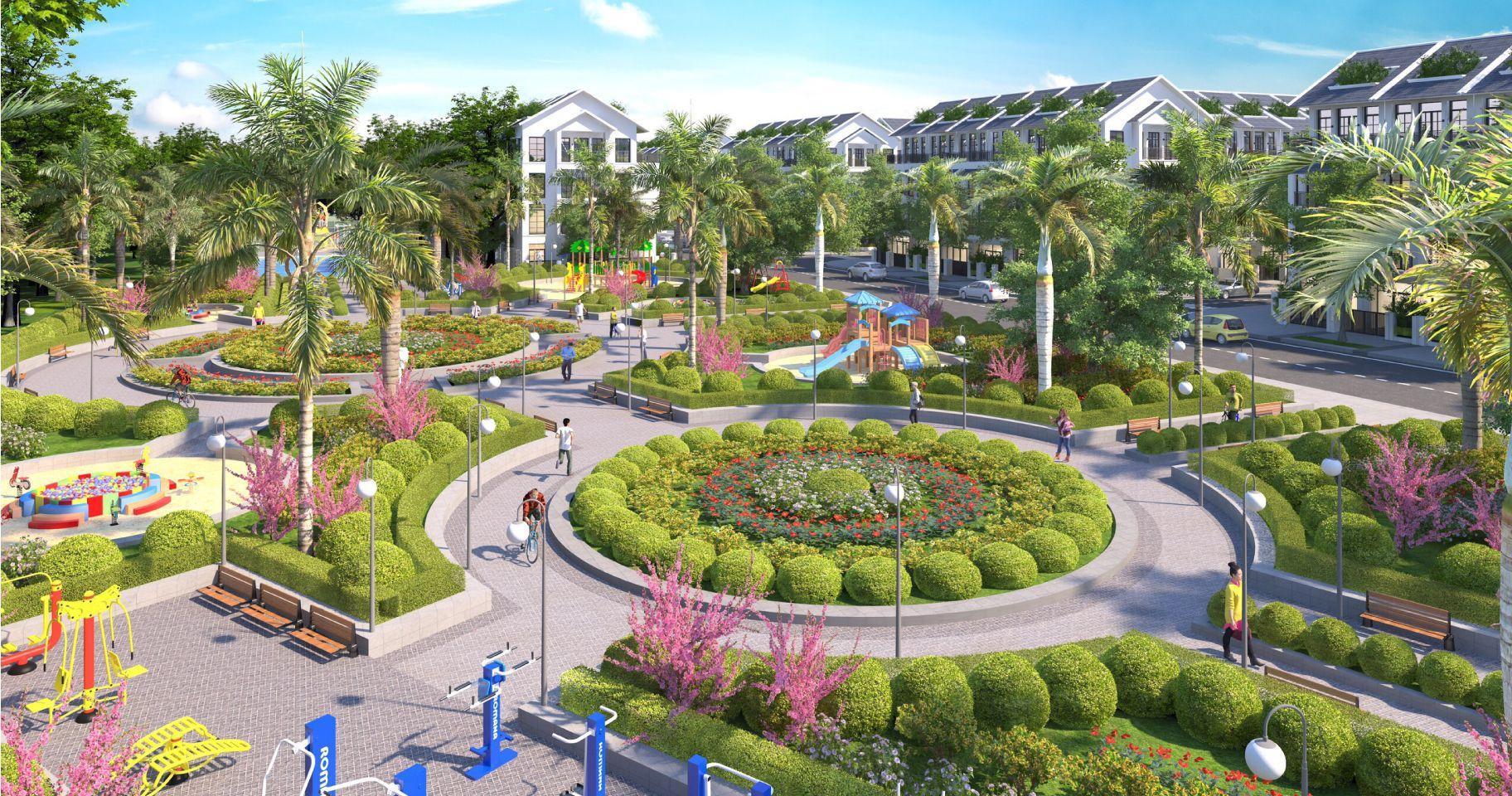 công viên cây xanh đại từ garden city