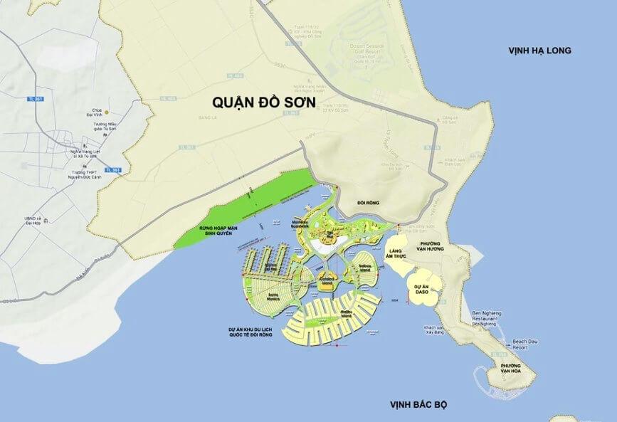 vị trí dự án đồi rồng dragon ocean đồ sơn hải phòng