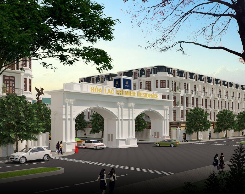 cổng chào dự án hòa lạc premier residence