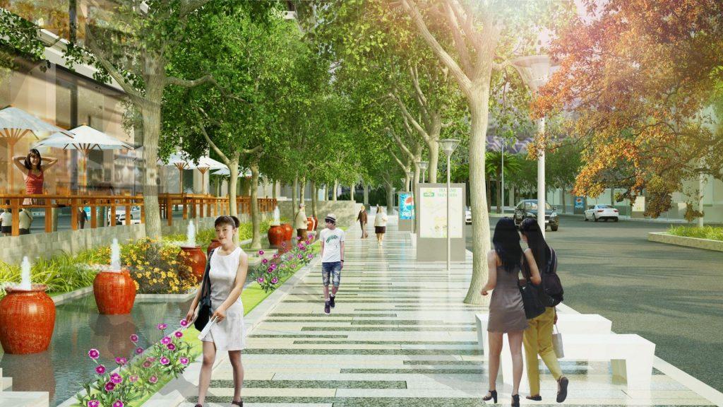 đường dạo bộ chung cư luxury park view