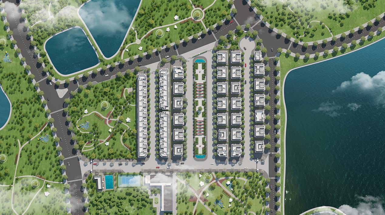mặt bằng tổng thể elegant park villa thạch bàn
