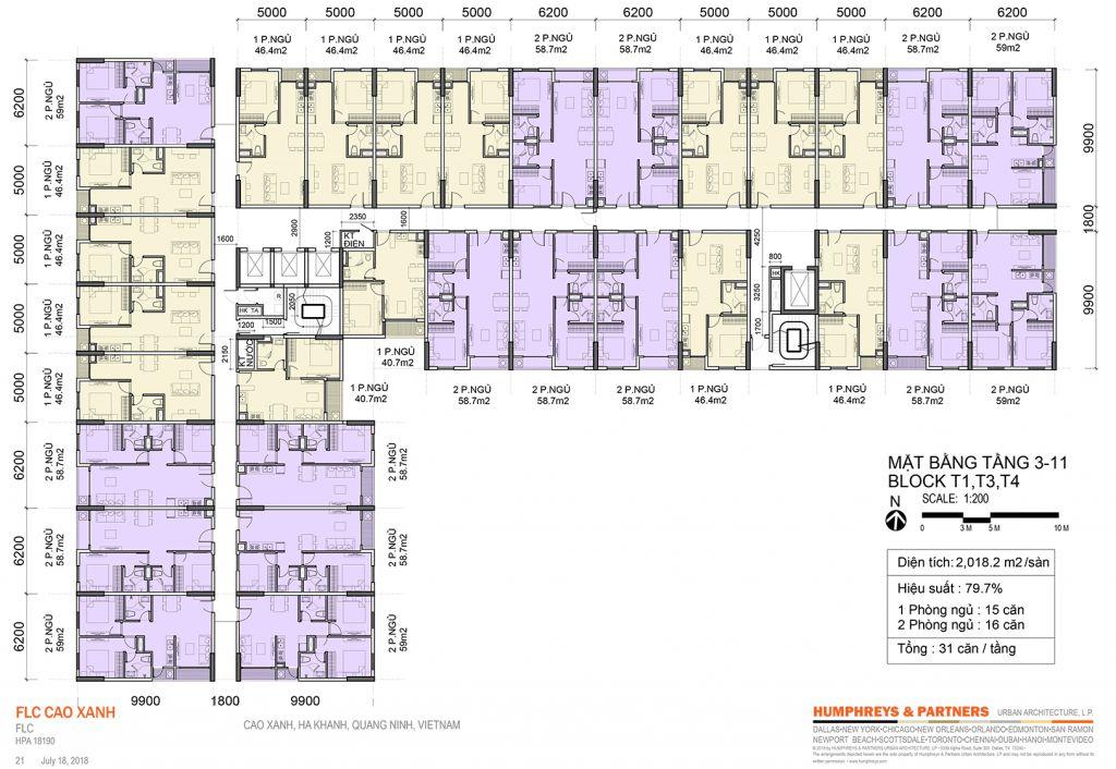 mặt bằng chung cư flc tropical city tòa t1,t3,t4