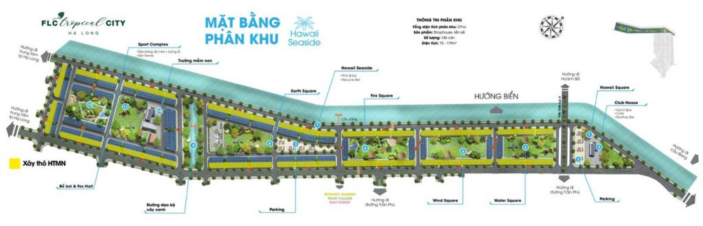 phân khu hawaii seaside dự án flc tropical city