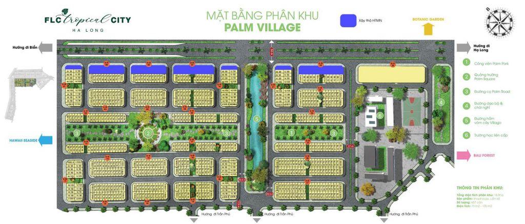 phân khu palm village dự án flc tropical city