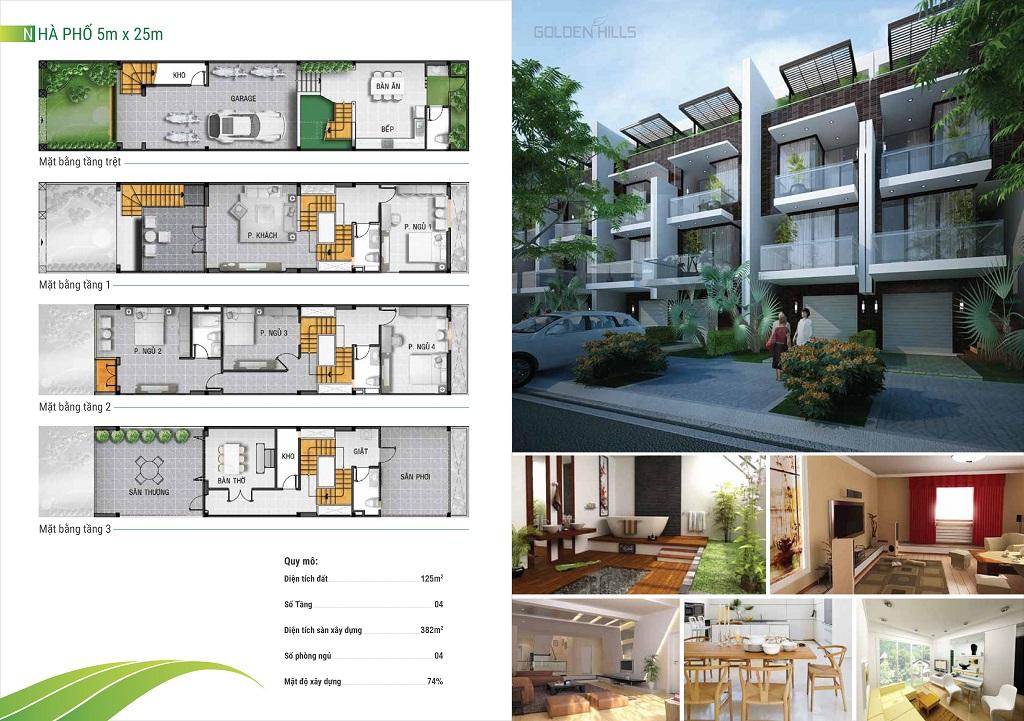 thiết kế nhà phố golden hills