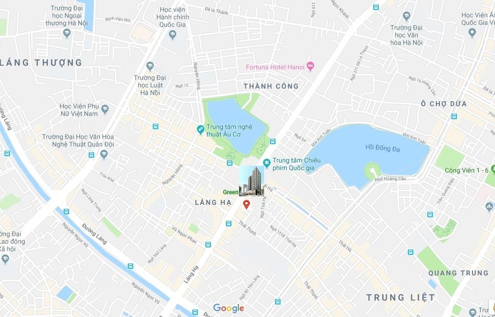 vị trí dự án green diamond láng hạ