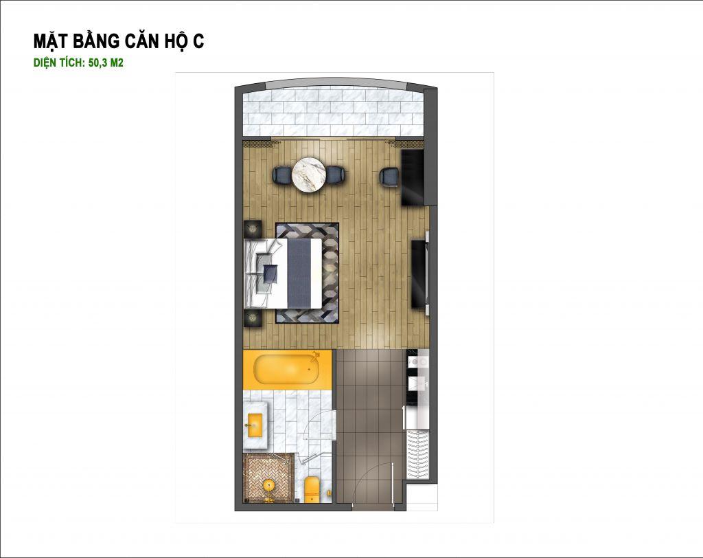 thiết kế chung cư hà nội golden lake căn hộ c