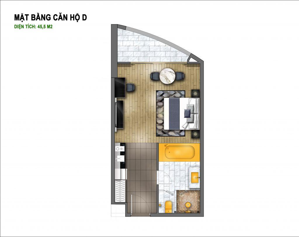 thiết kế chung cư hà nội golden lake căn hộ d